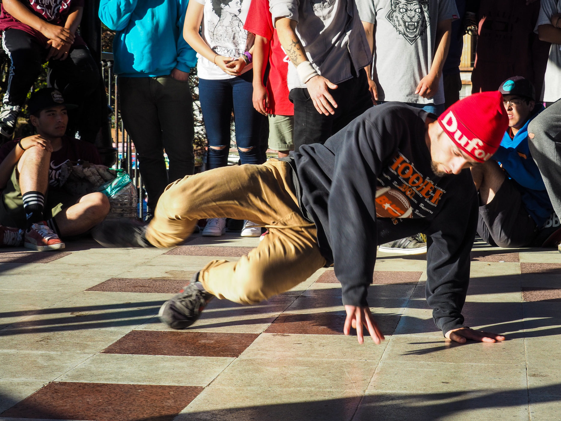 Breakdancing in Ancud, Chiloé.